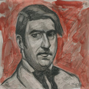 Markos Kampanis Portraits 2012,Ακρυλικό και κάρβουνο σε χαρτί. Acrylic and charcoal on paper. 135