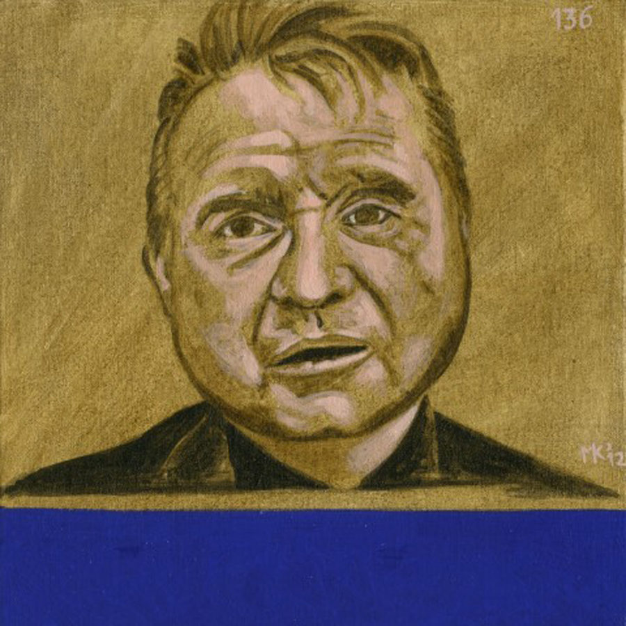 Markos Kampanis Portraits 2012, Ακρυλικό σε ξύλο. Acrylic on wood. 136