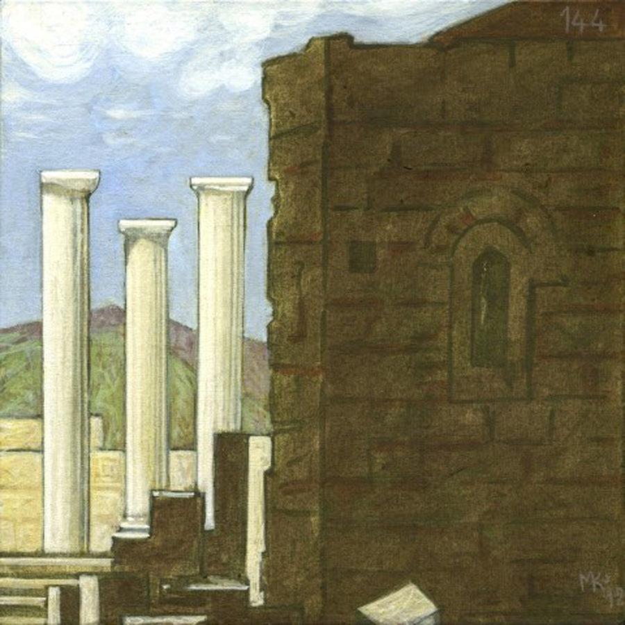 Markos Kampanis, Ακρυλικό σε ξύλο. Acrylic on wood, 2012-13 Ancient Ruins 144