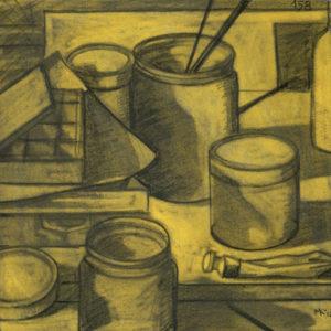Markos Kampanis, Ακρυλικό και κάρβουνο σε χαρτί. Acrylic and charcoal on paper, 2012-13 Studio 158