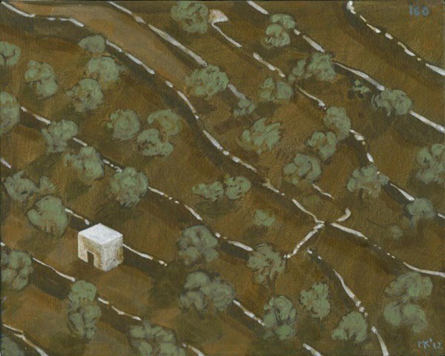 Markos Kampanis. Landscapes. 2012-13. Ακρυλικό σε ξύλο. Acrylic on wood. 160