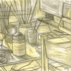 Markos Kampanis, Ακρυλικό και κάρβουνο σε χαρτί. Acrylic and charcoal on paper, 2012-13 Studio 174