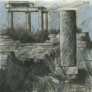 Markos Kampanis, Ακρυλικό και κάρβουνο σε χαρτί. Acrylic and charcoal on paper, 2012-13 Ancient Ruins 218