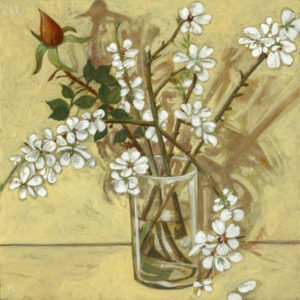 Markos Kampanis. Ακρυλικό σε ξύλο. Acrylic on wood. 2012-13 Flowers 288