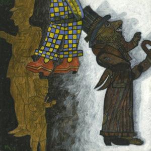 Markos Kampanis. Ακρυλικό σε ξύλο. Acrylic on wood. 2013 Karagiozis 316