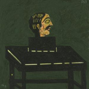 Markos Kampanis. Ακρυλικό σε ξύλο. Acrylic on wood. 2013 Karagiozis 323