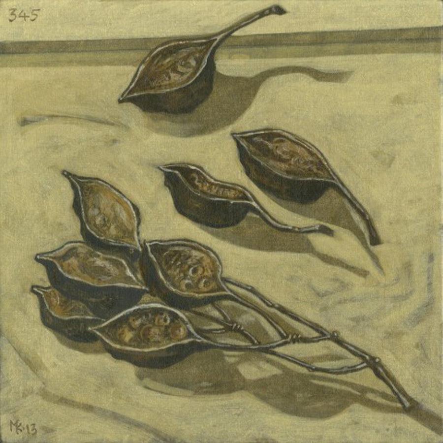 Markos Kampanis. Ακρυλικό σε ξύλο. Acrylic on wood. 2012-13 Flowers 345