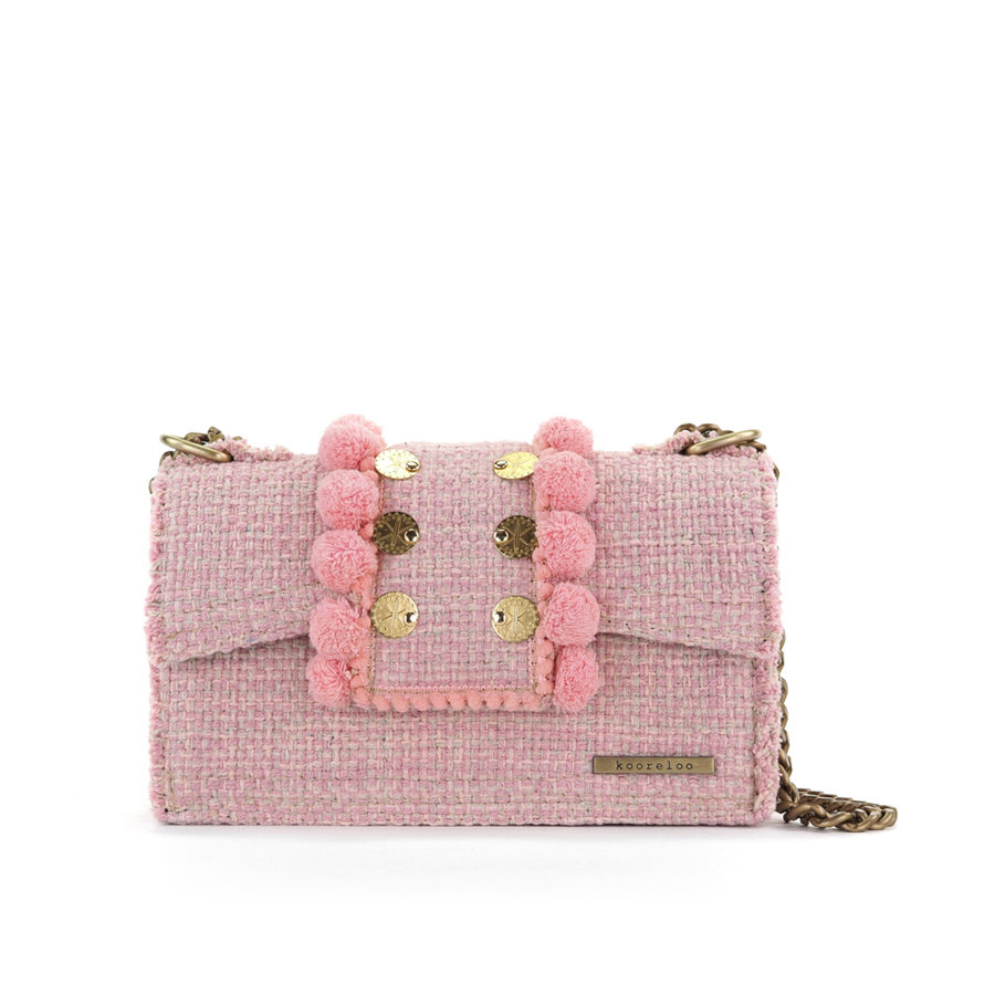KOORELOO Epiphany Romeo Baby Pink Fabric Shoulder Bag`