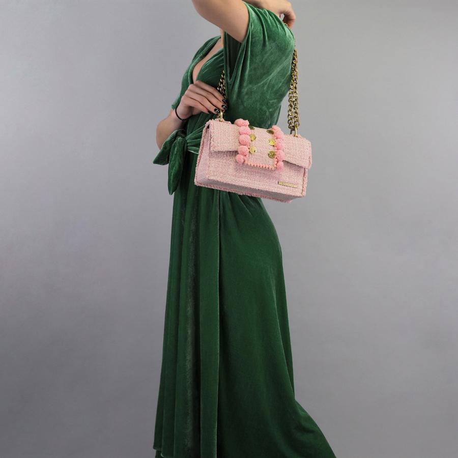 KOORELOO Epiphany Romeo Baby Pink Fabric Shoulder Bag