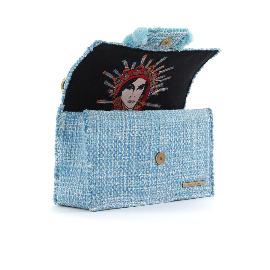 KOORELOO Epiphany Romeo Aquamarine Fabric Shoulder Bag