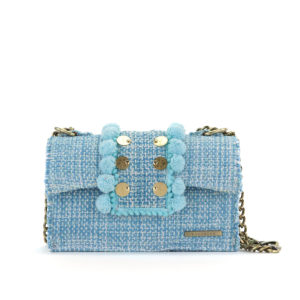 KOORELOO Epiphany Romeo Aquamarine Fabric Shoulder Bag