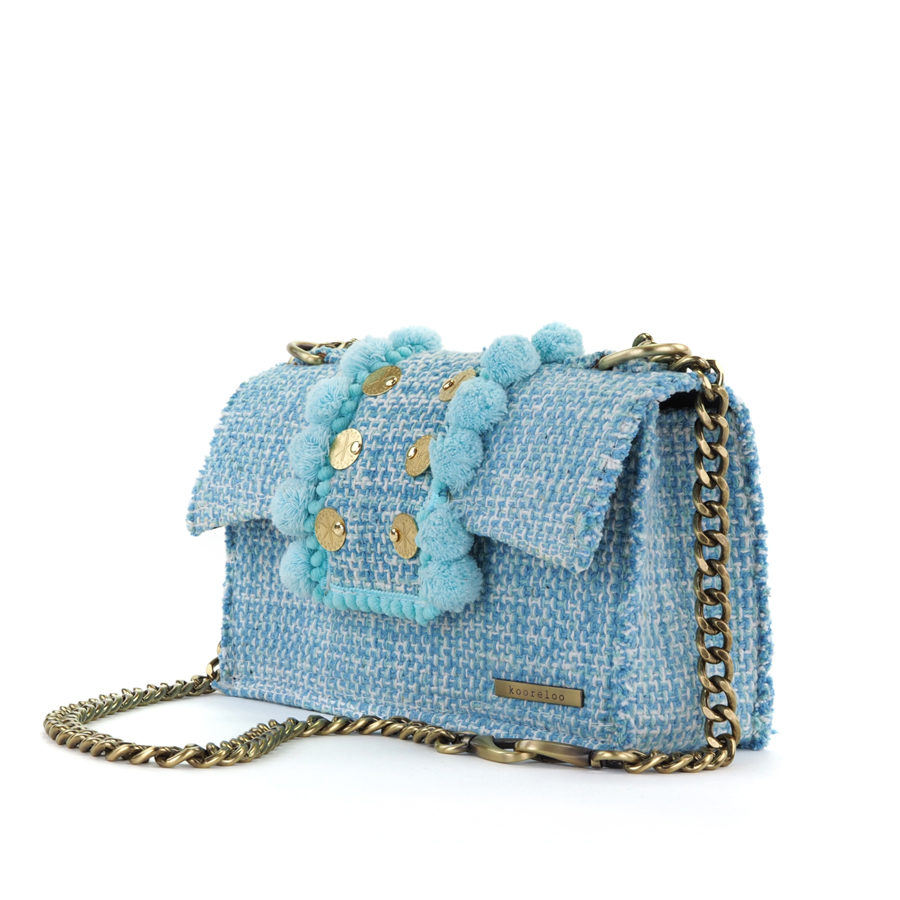1b3344af17 Epiphany Romeo Aquamarine Fabric Shoulder Bag - i-D Concept Stores