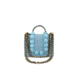 KOORELOO Epiphany Petite Juliet Aquamarine Fabric Shoulder Bag