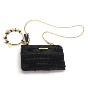 KOORELOO Black Leather Looloo Pochette