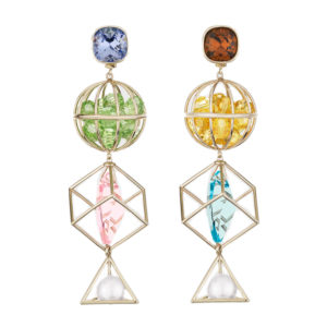 Atelier Swarovski by Mary Katrantzou Nostalgia Triple Drop Earrings
