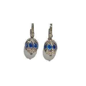 Ileana Makri Blue Chandelier Earrings