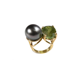 Dolly Boucoyannis Double Golden Tourmaline Ring
