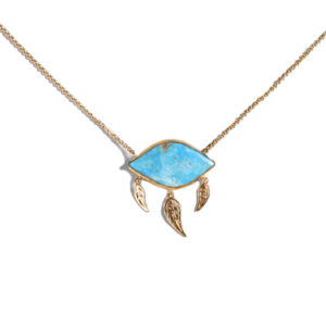 Dolly Boucoyannis Gold Plated Turquoise Stone Pendant