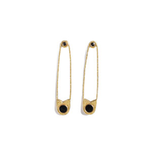 Ileana Makri Safety Gold Earrings