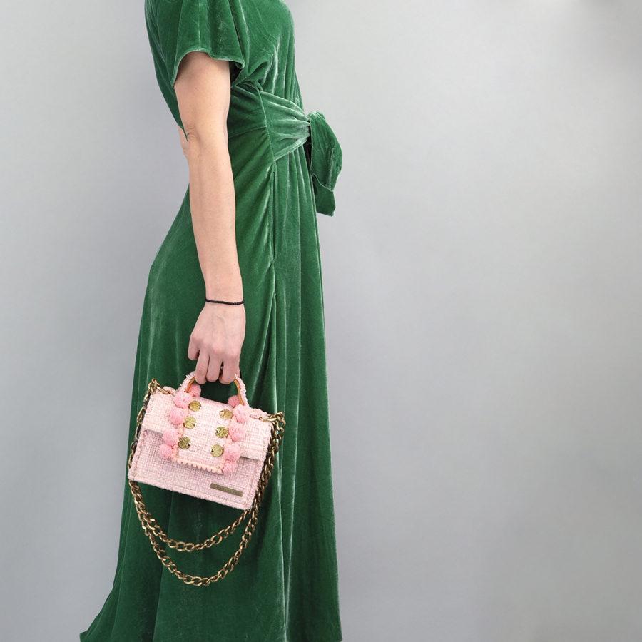 Epiphany Petite Juliet Baby Pink Shoulder Bag