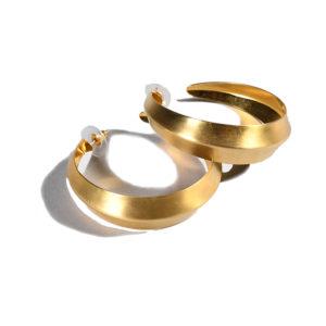 Katerina Psoma Cyclos Gold Plated Big Metal Hoops