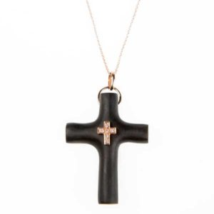 Marlen Ht Ebony Cross Necklace