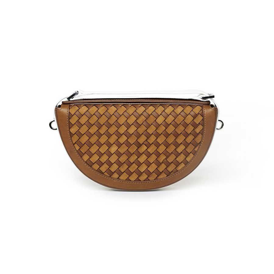 Marina Raphael RENE Caramel Woven Leather Bag