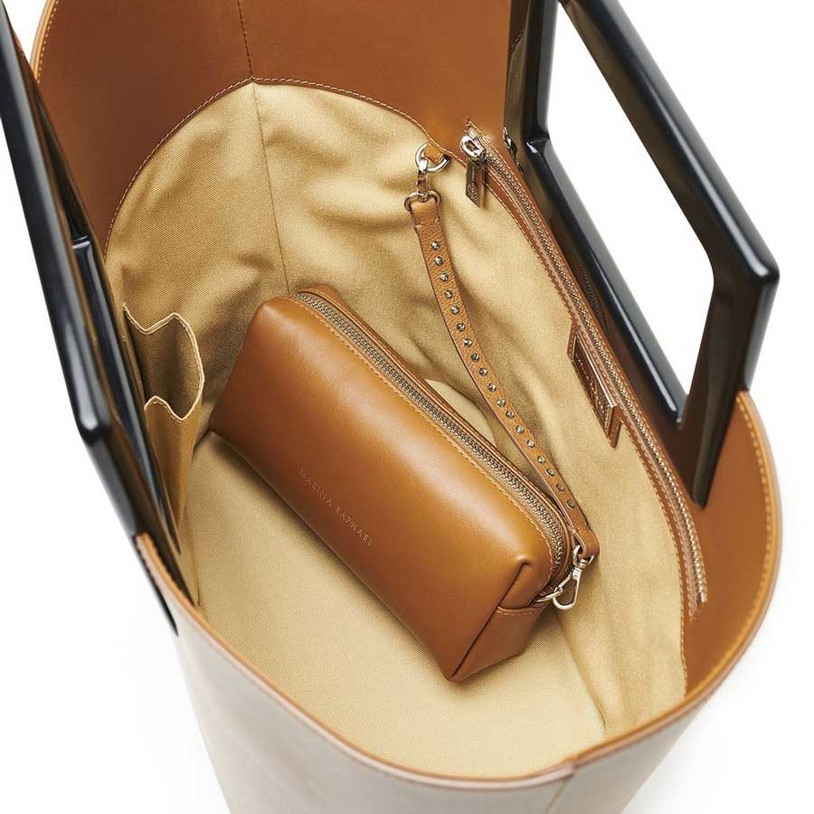 Marina Raphael RIVIERA Caramel Leather Bag