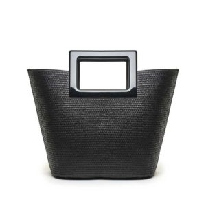 Marina Raphael Riviera black straw bag