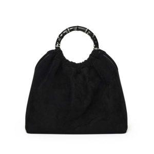 Marina Raphael SIENNA Black Suede Bag