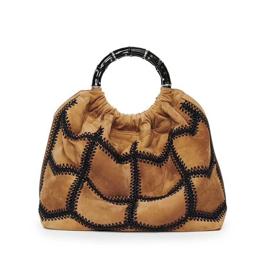 2c5daf83950 SIENNA Caramel Crochet Suede Bag - i-D Concept Stores