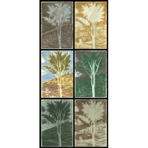 Markos Kampanis Δ1. Variations on a tree by Mantegna. 2011. Monotypes on paper 76x36