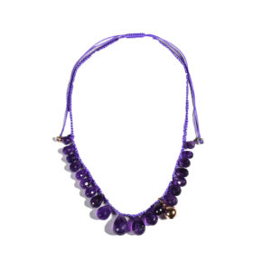 Marlen Ht Amethyst Gold Necklace