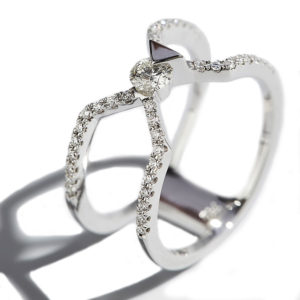 Orofasma Diamond and Triangle Double Wedding Ring