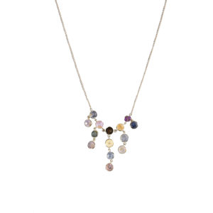 OΟΝΑ Sapphires Cluster Necklace