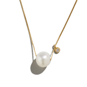 Dolly Boucoyannis Pearl-Big Diamond Necklace