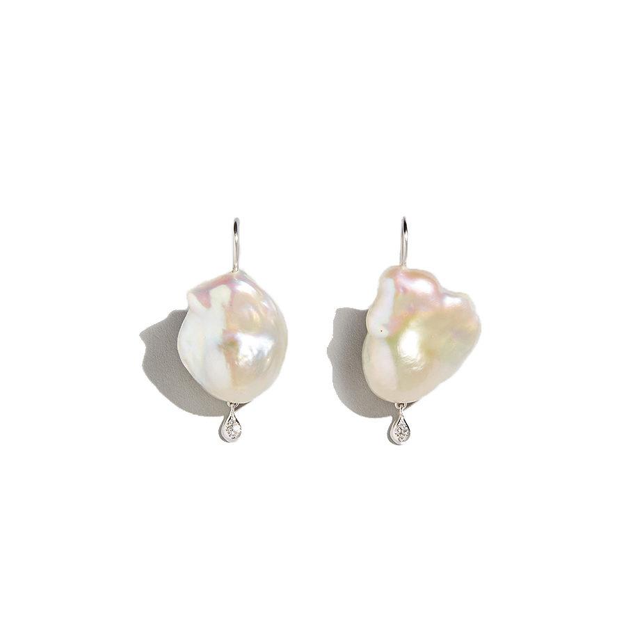 Dolly Boucoyannis Pearl-Diamond Drop Earrings
