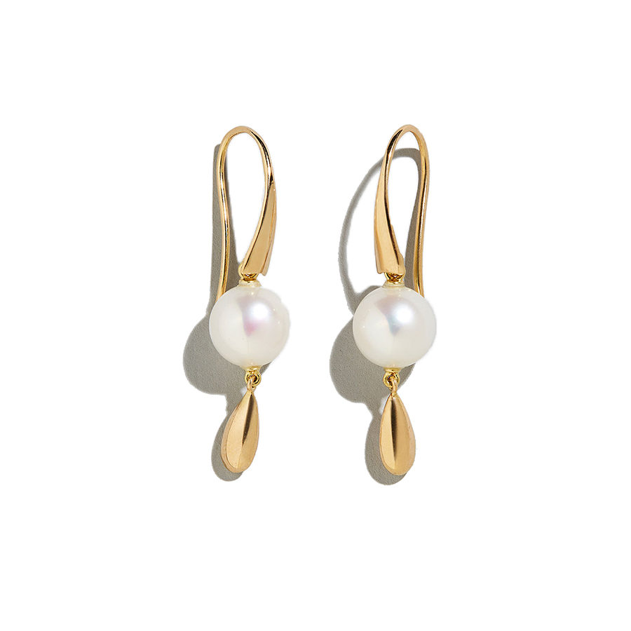 Dolly Boucoyannis Pearl-Gold Drop Earrings