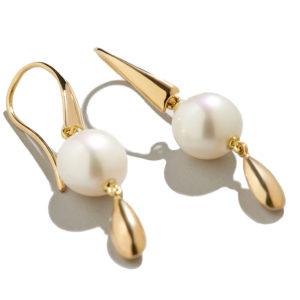 Dolly Boucoyannis Pearl-Gold Drop Earrings