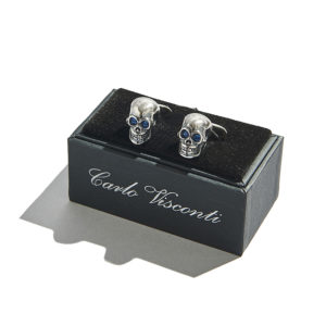 Carlo Visconti Skull Cufflinks