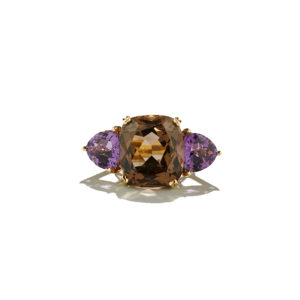 Dolly Boucoyannis Smoky Quartz-Amethyst Ring