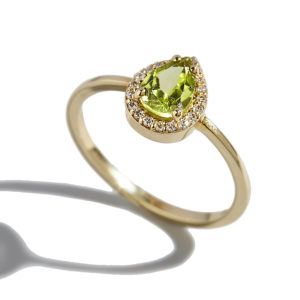 Orofasma Peridot Drop Ring