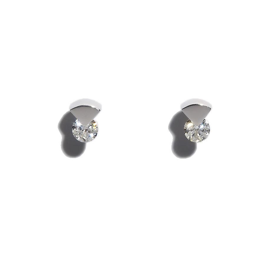 Orofasma Triangle and Diamonds Stud Earrings