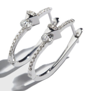Orofasma Triangle and Diamond Oval Hoops