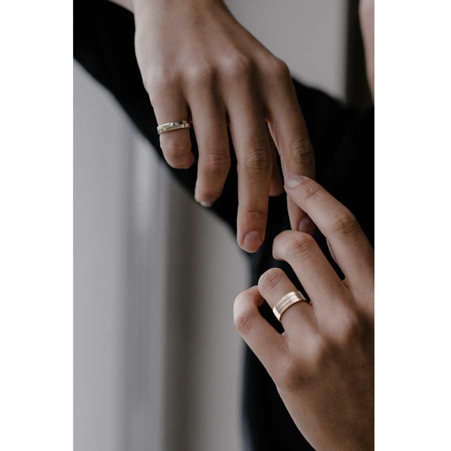 Lilian von Trapp Triple Structured One Ring R1611C