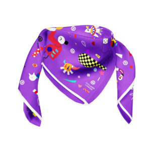 Cyclades Silk Space Scarf Purple