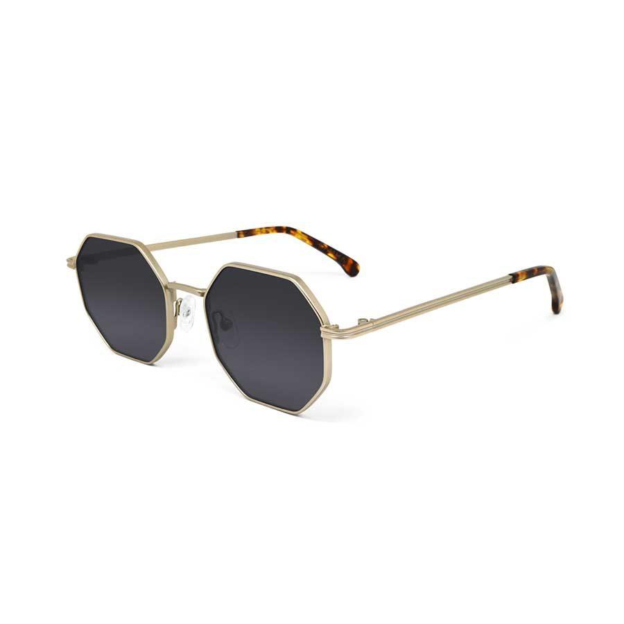 We Are Eyes Gamma Gold Sunglasses Black Lenses