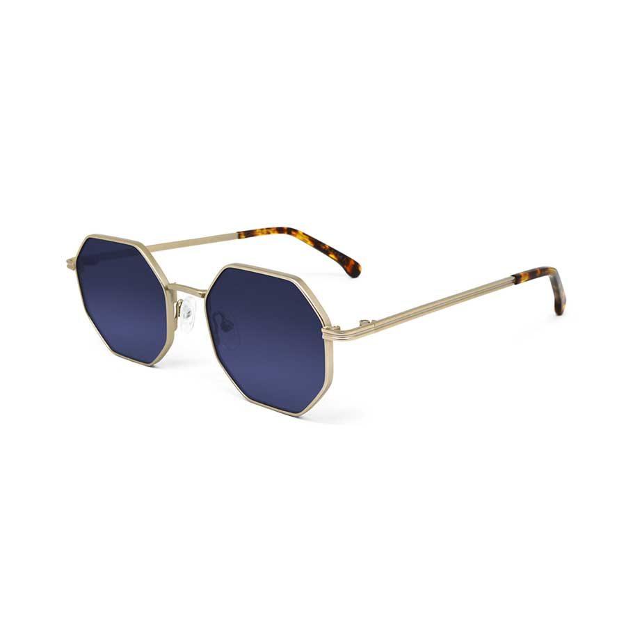 We Are Eyes Gamma Gold Sunglasses Blue Lenses