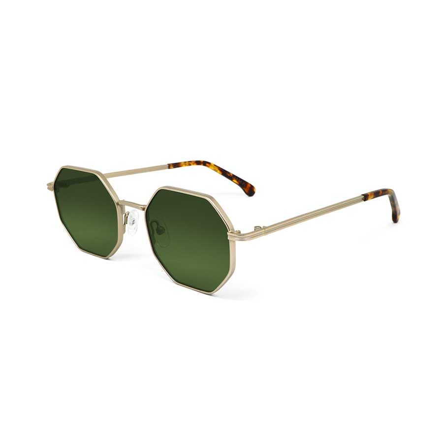 We Are Eyes Gamma Gold Sunglasses Green Lenses