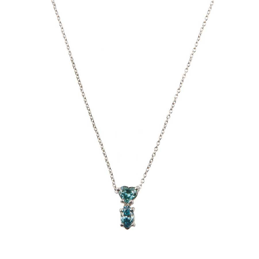 Marlen Ht Gold and Blue Diamonds Necklace MHN1071